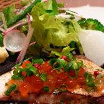 キッチン CACCIATORA - 天然ブリの炙り焼き