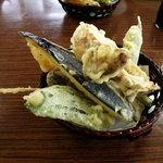 丸光園松茸山 - 松茸の天ぷら