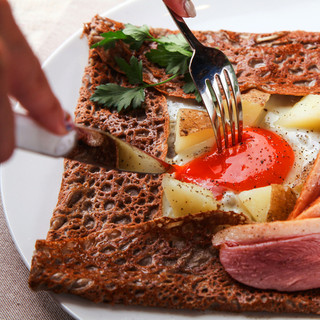 健康志向食、ガレットクレープ
