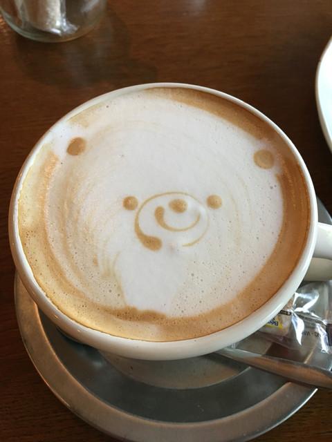 トワモワカフェ - HOTカフェラテ600円。 が可愛い♡