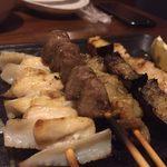 全席個室 × 肉寿司食べ放題 はるか - haruka:串五本盛り合わせ