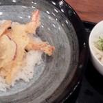 あっぱれ天風 - お昼の天丼セット¥980円