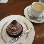 ベルベ - モンブランとブレンドコーヒー