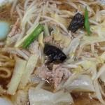 進京亭 - スープは熱々もやしワンタンメン 2016.6