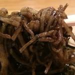 ますも庵 - さすがに黒い麺 2016.6