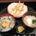 52692064 - ランチ:静岡産しらす丼と冷やし稲庭うどん