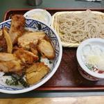 桂庵  - 鳥どんセット 750円