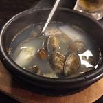 焼肉園 花牛 - あさりと大根のスープ