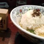 52694427 - つけ麺-ご飯&黒七味を投入し〆雑炊(2016/5)