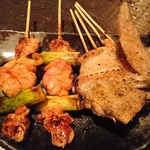 竹とり - 鶏ねぎみ たれ、手羽 塩