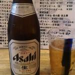 よつ竹 - 瓶ビール頼むとアサヒです