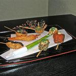 青空 - 料理写真:創作串揚げ料理専門店 青空の、一部の串揚げ達です