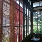 52701097 - 縁側 歪みのあるガラスが嵌め込まれてマス