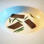 ラス - 鮎のリエットと百合根のスープ