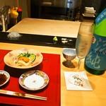 山桜 - 生湯葉 & 雲丹には冷酒が美味しい