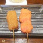 くし家 - 紅生姜と牛カツ
