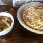 作左ェ門 - 肉汁うどんセット普通930円