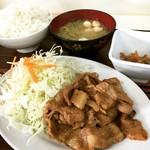 秋北食堂 - 生姜焼き定食