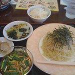 王記 - 日替わりランチ(つけ麺)500円