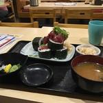 鯛将丸 - ビックリ名物!! 鉄火巻き定食