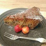 お野菜カフェ アトリエラムカーナ - ナスとキャラメルのタルト