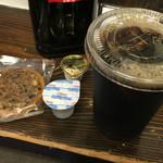 やなか珈琲店 - アイスコーヒーとクッキーで360円