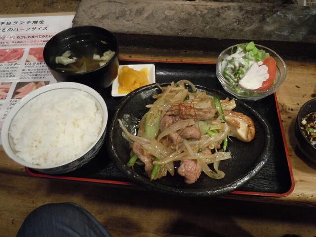 士別バーベキュー - こちらはラム炒め定食