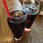 伊太利亜厨房 KUU - アイスコーヒー&コーラ  デザートとSETで¥100引き