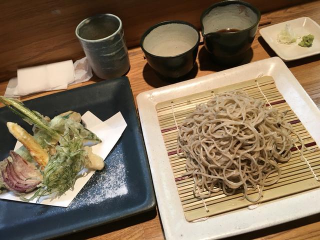 蕎麦 宗 - 野菜天ぷらともりそば大盛