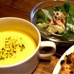 52728169 - セットのサラダとスープ