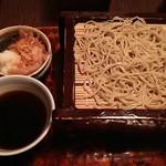 蕎麦処 多賀 - 辛味大根そば2枚重ね1600円。
