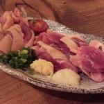 52734362 - 【2016/05 ディナー】もも肉刺身