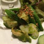 ラディーチェ - バイ貝とジャガイモのジェノベーゼソース和え