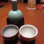 52737362 - 萩の露 熱燗 一合 800円 (2016.6)