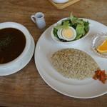 シーカフェ - 薬膳カレーセット(1050円)2016年5月