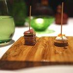 レストラン・パッション - そば粉のブリニス、ジャンボン・ペルシエ