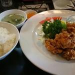 龍家 - 若鶏の唐揚げとライスセット