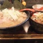 なにわ製麺 誉商店 - 特製中華そば+チャーシュー丼
