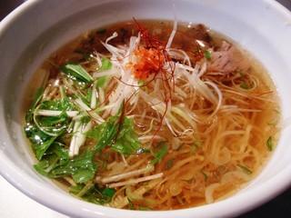 天雷軒 神谷町店 - 海老醤油ラーメン
