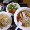 中華の店 楊楊 - 料理写真:ネギラーメンセット・炒飯大盛り870円+100円