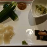 石臼挽きうどん しゅはり - 前菜4種盛り