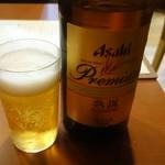 石臼挽きうどん しゅはり - 瓶ビールは熟撰