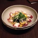 shin-ka511 - たこのカルパッチョ柚子胡椒ソーズ