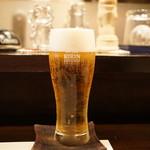 神楽坂 恵さき - まずは、生ビールで乾杯