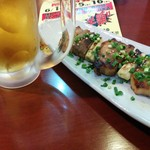 海鮮居酒家 七福水産 - ジャンボ豚バラ串(140円@感謝祭)