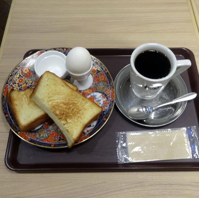 CAFE&BAKERY MIYABI 神保町店 - 厚切りMIYABIトーストwith茹でたまごモーニング500円
