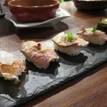 52743335 - 肉寿司5貫