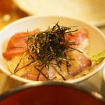 天茶屋 七蔵 - カンパチとまぐろのミックス丼