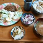 カフェ レスト ボーイ - 和風ハンバーグセット¥950