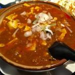52748854 - 熱々土鍋麻婆豆腐激辛です。